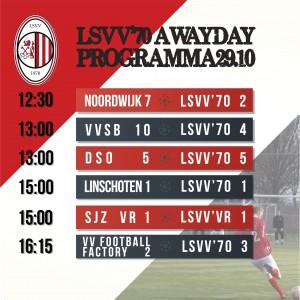 LSVV Awayday, met als sluitstuk de kraker tussen Football Factory en LSVV 3