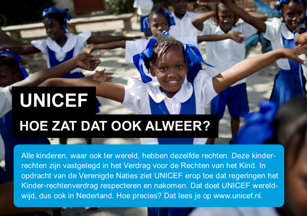 UNICEF - Hoe zat dat ook alweer?