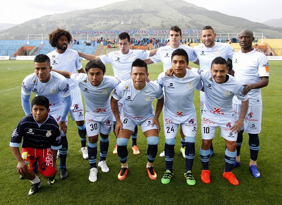 De selectie van Real Garcilaso in juni 2017.