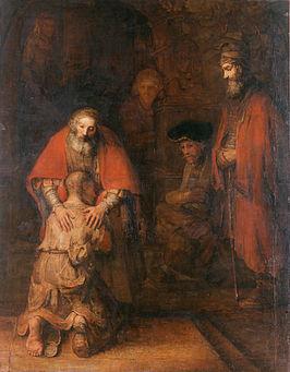 Tamminga zegt het met een schilderij. De Verloren Zoon, Rembrandt, ca. 1668.